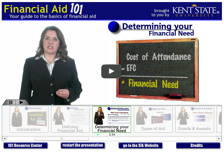 Watch the Financial Aid 101 video